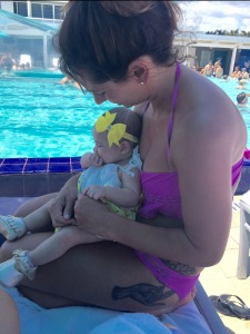 Old Friend + Baby = Good Times at the W pool party