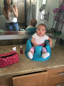 Baby + blush brush = not a good choice.